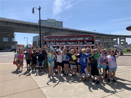 4th Grade Learns About Buffalo's History on a Double Decker Bus!